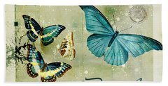 Blue Butterfly - S55c01 Bath Towel