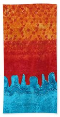 Blue Canyon Original Painting Bath Towel
