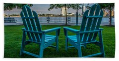Blue Chairs Hand Towel