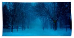 Blue Chicago Blizzard  Bath Towel