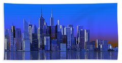 Chicago Blue City Hand Towel