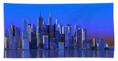 Chicago Blue City Bath Towel