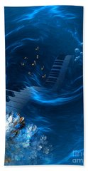 Blue Coral Melody - Fantasy Art By Giada Rossi Hand Towel by Giada Rossi