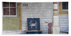 Blue Crab Chair Hand Towel