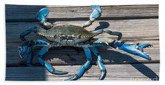 Blue Crab Pincher Bath Towel