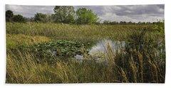 Blue Cypress Wetlands Bath Towel by Fran Gallogly