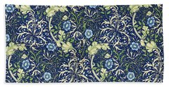 Blue Daisies Design Bath Towel