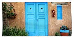 Blue Doors Of Taos Hand Towel