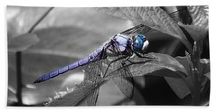 Blue Eyed Dragonfly Bath Towel
