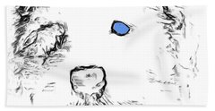 Blue Eyed Pup Hand Towel