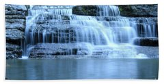 Blue Falls Hand Towel by Melissa Petrey
