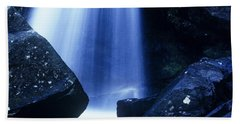 Bath Towel featuring the photograph Blue Falls by Rodney Lee Williams