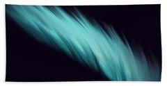Blue Feather Bath Towel