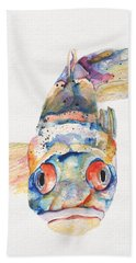 Blue Fish   Hand Towel by Pat Saunders-White