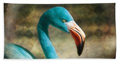 Blue Flamingo Bath Towel