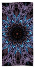 Hand Towel featuring the digital art Blue Flower by Lilia D