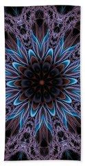 Bath Towel featuring the digital art Blue Flower by Lilia D