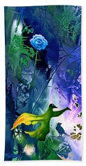 Blue Flower With Guardian Hand Towel
