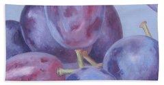 Blue Grapes Bath Towel