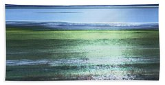 Blue Green Landscape Bath Towel