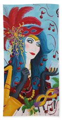 Blue Haired Lady Hand Towel