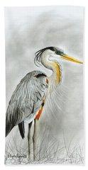Blue Heron 3 Hand Towel