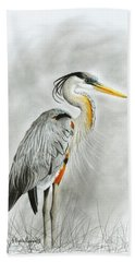 Blue Heron 3 Hand Towel