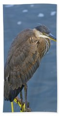 Blue Herron Hand Towel