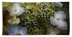 Hand Towel featuring the photograph Blue Hydrangea by Barbara Orenya