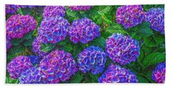 Bath Towel featuring the photograph Blue Hydrangea by Hanny Heim