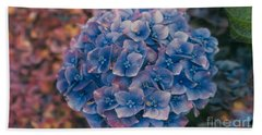 Blue Hydrangea Hand Towel by Heather Kirk