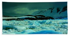 Bath Towel featuring the photograph Blue Ice Flow by Amanda Stadther
