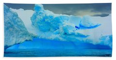Bath Towel featuring the photograph Blue Icebergs by Amanda Stadther