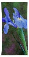 Blue Iris  Hand Towel