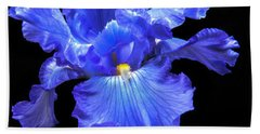 Blue Iris Bath Towel by Robert Bales