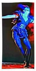 Blue Lady Dancer Hand Towel