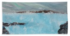 Blue Lagoon Iceland Hand Towel by Judith Rhue