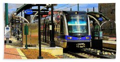 Bath Towel featuring the photograph Blue Line by Rodney Lee Williams
