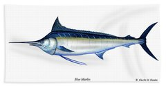 Blue Marlin Hand Towel