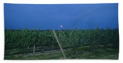 Bath Towel featuring the photograph Blue Moon by Robert Nickologianis