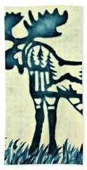 Blue Moose Bath Towel by Larry Campbell
