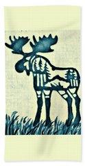 Blue Moose Hand Towel