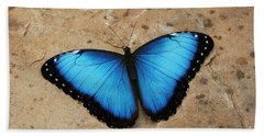 Blue Morpho #2 Hand Towel by Judy Whitton