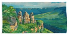 Blue Mountains Australia Bath Towel