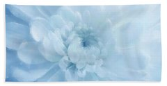 Blue Mum Luminous Painted Blossom Hand Towel