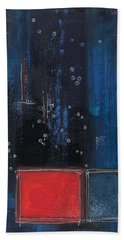 Hand Towel featuring the painting Blue by Nicole Nadeau