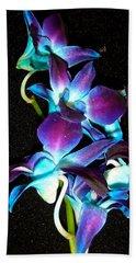 Blue Orchids Bath Towel