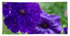 Blue Pansies After A Rain Hand Towel