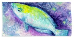 Blue Parrotfish Hand Towel