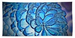 Blue Pine Cone 2 Hand Towel by Chalet Roome-Rigdon